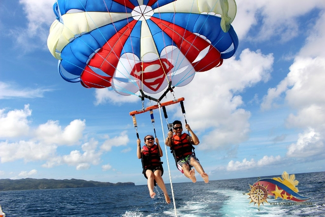Parasailing in Boracay with Will Garcial and Carell