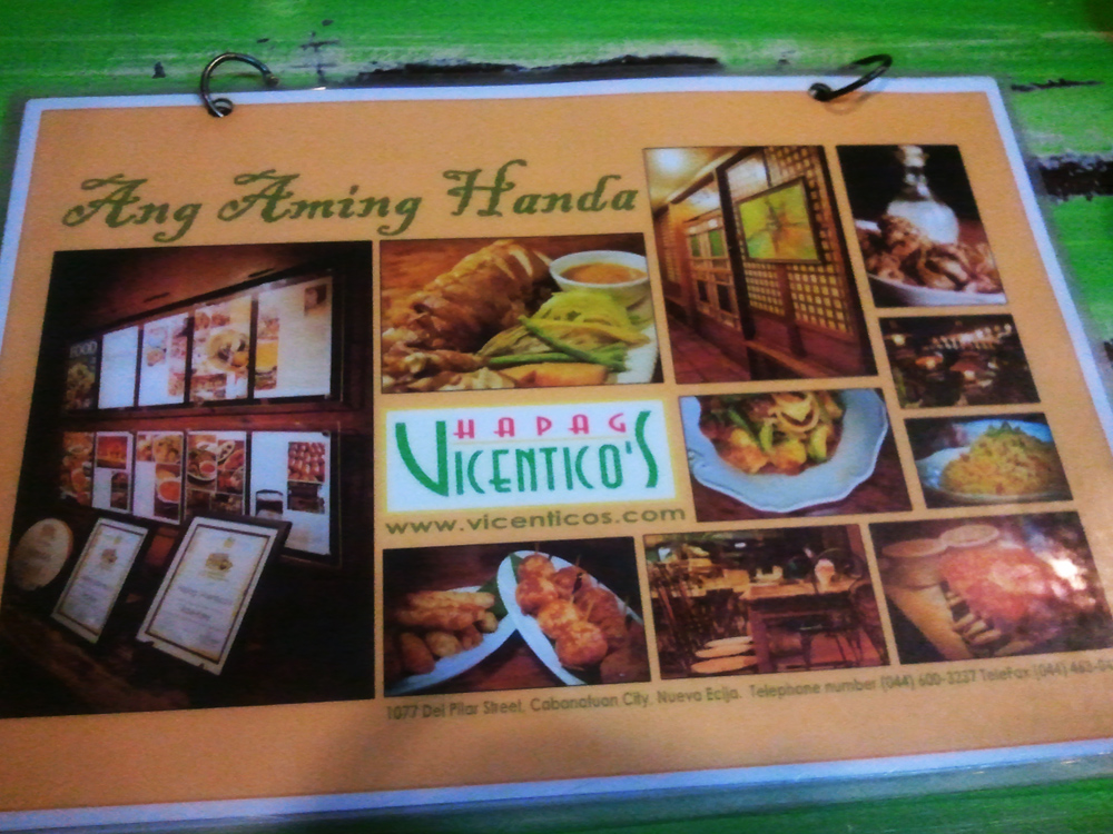Hapag Vicentico's, A Must Try Restaurant in Cabanatuan City
