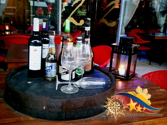 Wine-Beverage-Display-at-Dos-Mestizos-Spanish-Restaurant-in-Angeles-City
