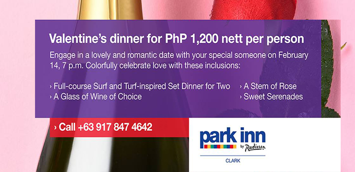 Valentine's Day Park Inn by Radisson Clark Pampanga