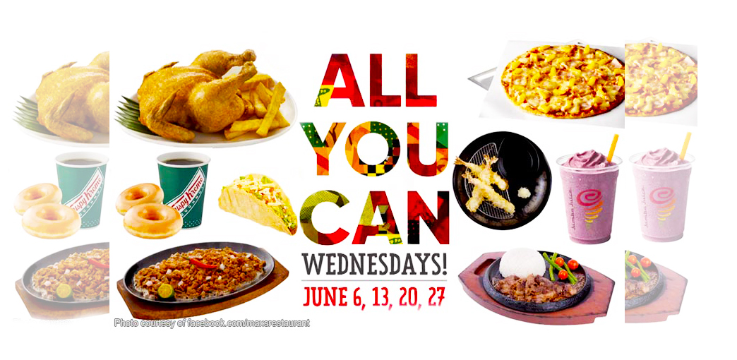 Eat All You Can Wednesdays: Yellow Cab, Krispy Kreme, Max's, Pancake House and More!