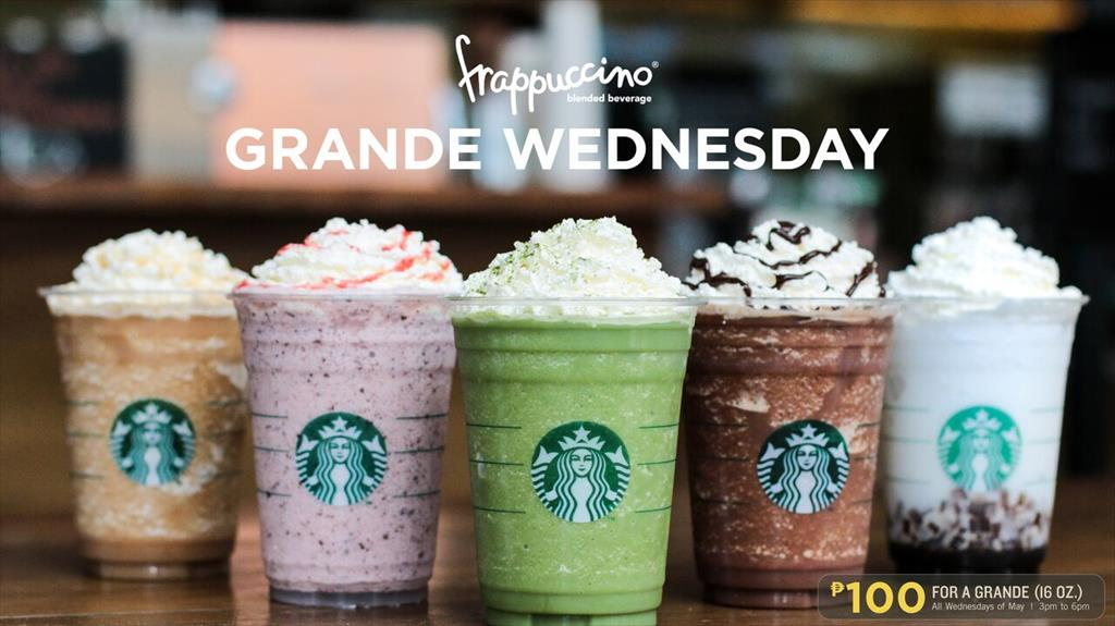 Starbucks Philippines Grande Wednesdays For Summer 2018