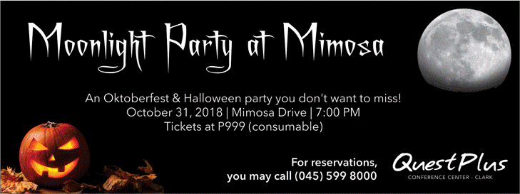 PAMPANGA: Moonlight Party at Quest Plus Mimosa Clark Pampanga