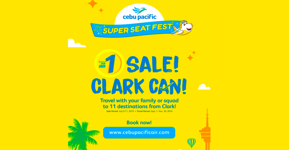 Cebu Pacific Exclusive Clark Peso Sale