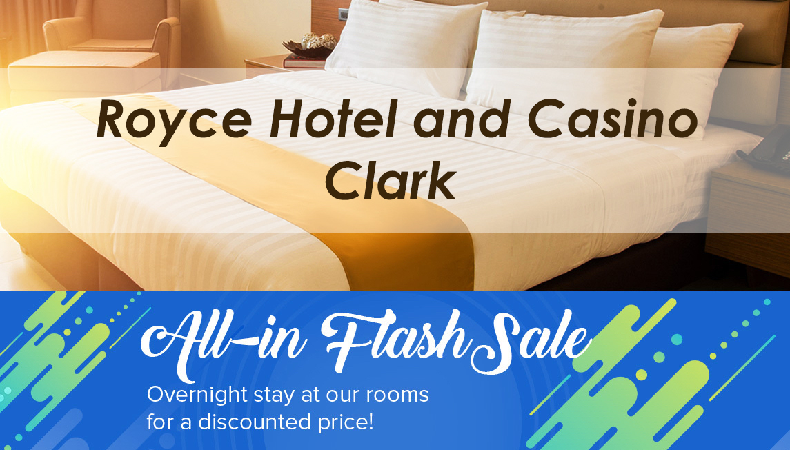 Royce Hotel Clark: Rainy Day Promos on Food, Rooms and Casino